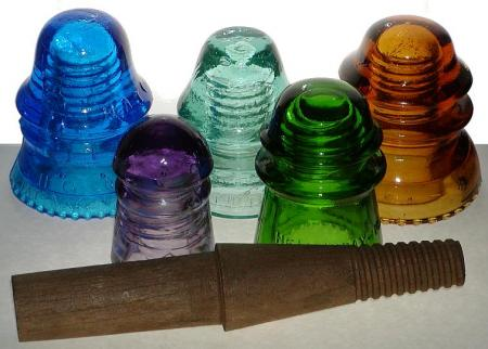 glass insulators (not my pic, just examples)