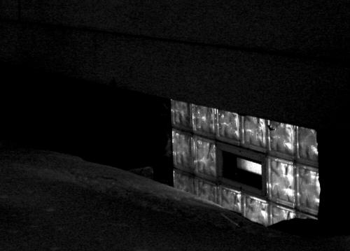 Back-lit glass blocks